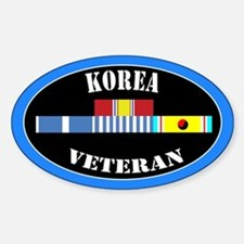 Korean War Sticker (Oval)