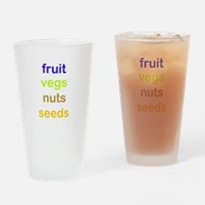 fruit vegs nuts seeds Drinking Glass