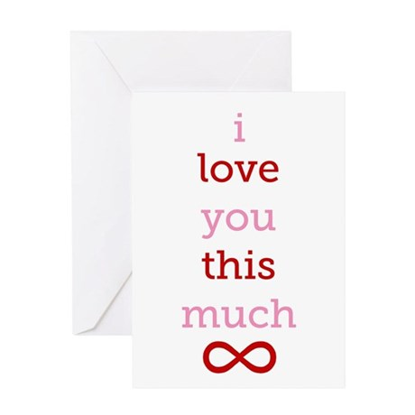 Infinitive Love Greeting Card