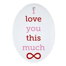 Infinitive Love Ornament (Oval)