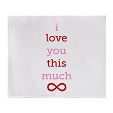 Infinitive Love Throw Blanket