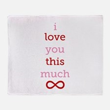 Infinitive Love Throw Blanket