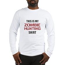 Zombie Hunting Shirt Long Sleeve T-Shirt