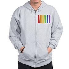 LGBT Colors Zip Hoodie