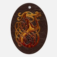 Harvest Moon's Celtic Knot Ornament (Oval)