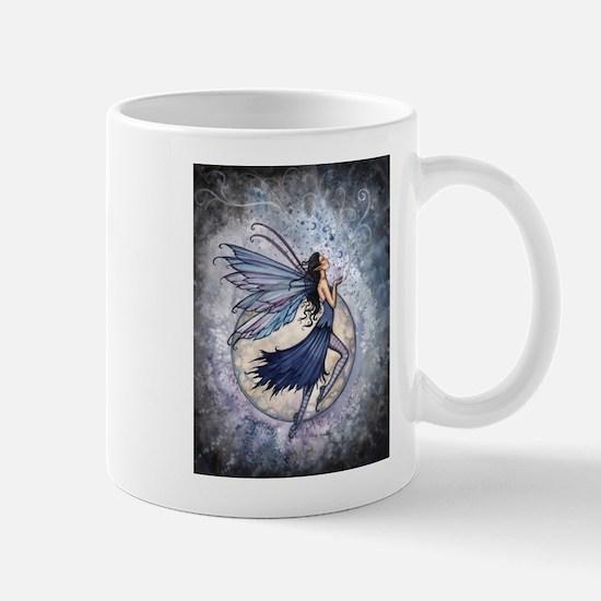 Midnight Blue Fairy Fantasy Art Mug