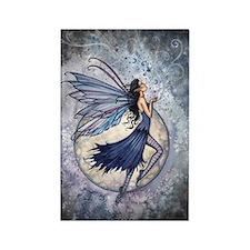 Midnight Blue Fairy Fantasy Art Rectangle Magnet
