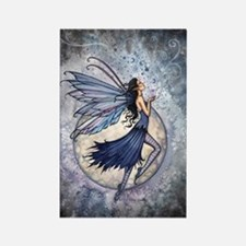 Midnight Blue Fairy Fantasy Art Rectangle Magnet