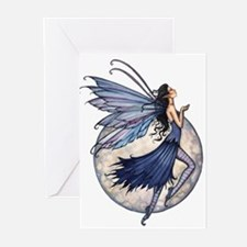 Midnight Blue Fairy Fant Greeting Cards (Pk of 20)