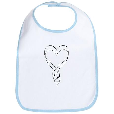 Swirl Baby Heart Bib