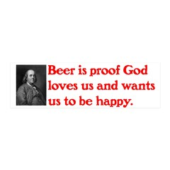 Ben Franklin: Beer Quote 42x14 Wall Peel