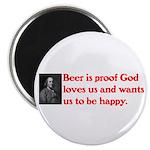 Ben Franklin: Beer Quote Magnet