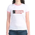 Ben Franklin: Beer Quote Jr. Ringer T-Shirt