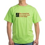Ben Franklin: Beer Quote Green T-Shirt