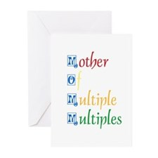 Mother of Multiple Multiples Greeting Cards (Packa