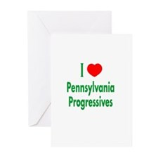 I Love PA Progressives Greeting Cards (Package of
