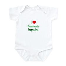 I Love PA Progressives Infant Creeper