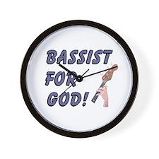 Christian Bass For God Wall Clock