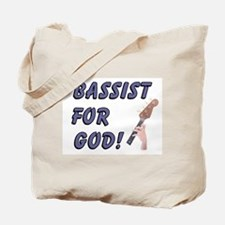 Christian Bass For God Tote Bag