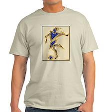 Abstract Soccer Ash Grey T-Shirt