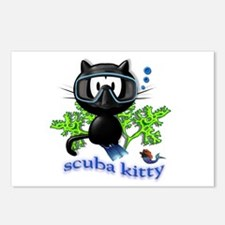 scuba kitty Postcards (Package of 8)