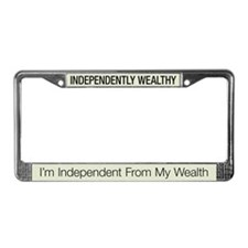 Independently Wealthy License Plate Frame