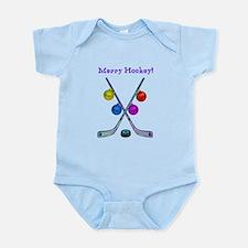 Funny Hockey theme Infant Bodysuit