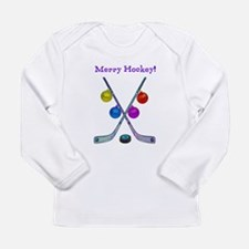 Cute Hockey christmas Long Sleeve Infant T-Shirt