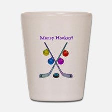 Funny Hockey players themed Shot Glass