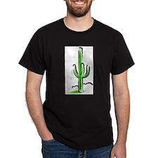 Cactus111 Black T-Shirt