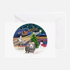 XmasMagic-GuineaPig2 Greeting Card