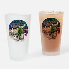 XmasMagic-2 Guinea Pigs Drinking Glass