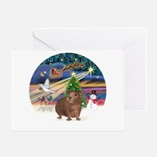 XmasMagic-GuineaPig 3 Greeting Card