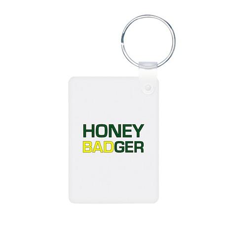 Honey Badger Aluminum Photo Keychain