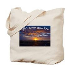 Cool Sunset clouds Tote Bag