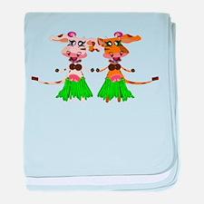 Sola and Luna - Hula Cows! baby blanket