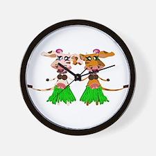 Sola and Luna - Hula Cows! Wall Clock