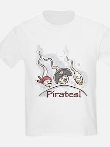 Pirates Bad Sea Men Kids T-Shirt