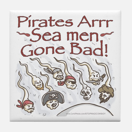 Pirates Bad Sea Men Tile Coaster