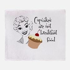 Cupcakes are not... Throw Blanket