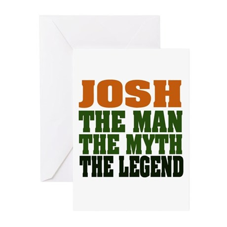 JOSH - The Legend Greeting Cards (Pk of 20)