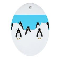 Penguins Design Ornament (Oval)