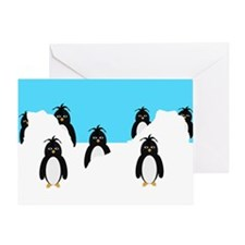 Penguins Design Greeting Card