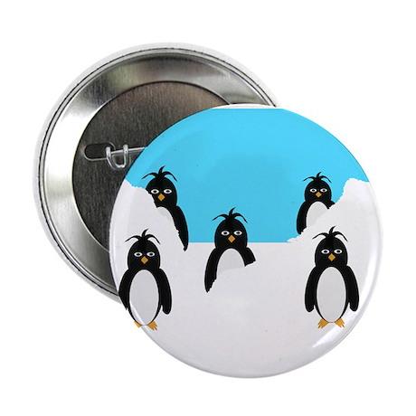 """Penguins Design 2.25"""" Button"""