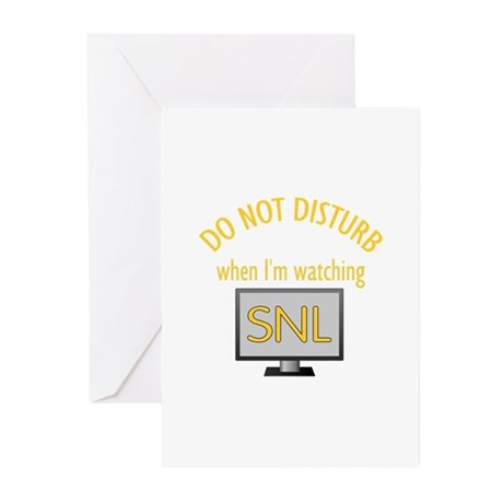 Do Not Disturb Watching SNL Greeting Cards (Pk of