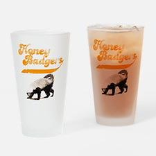 TEAM Honey Badger Vintage Drinking Glass