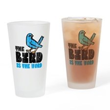 The Bird is the Word Drinking Glass