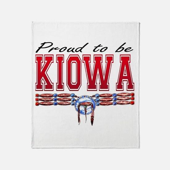 Proud to be Kiowa Throw Blanket