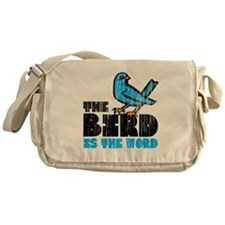 The Bird is the Word Messenger Bag