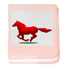 Horse (R) baby blanket